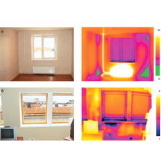 Тепловизионное обследование 2-х - 3-х комнатных квартир