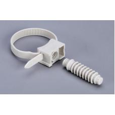 КСП. Стяжки кабельные с площадкой под дюбель (100 шт)