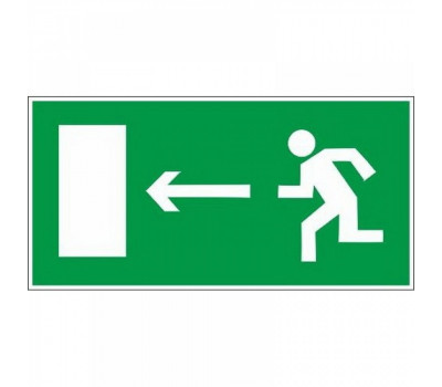 """Эвакуационный знак """"Направление к выходу"""" налево Е 04 на самоклеющейся пленке"""